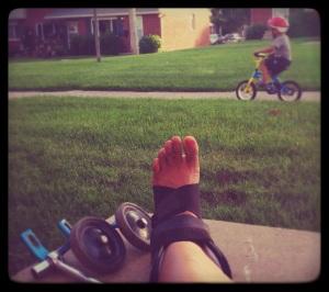 gets splint loses training wheels
