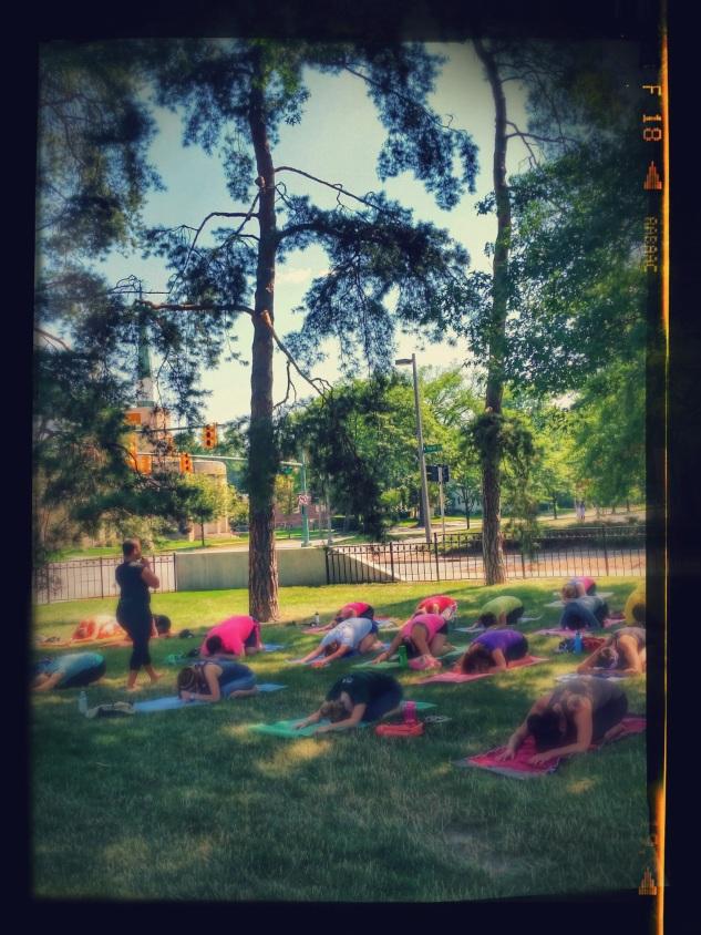 yoga at the broad.balasana