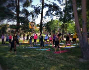 yoga at the broad.halfmoon