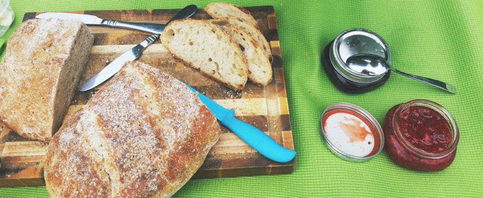 bread + jams! #homemade #nosh
