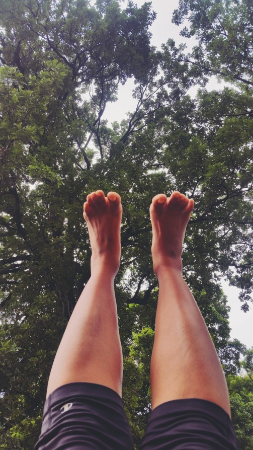 a glorious day to stretch out! #upuptothesky #yogitoes